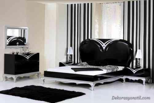 awesome Siyah Yatak Odası Modelleri