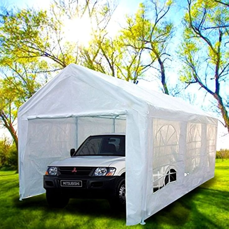 Portable Carport Canopy 10x20 With Metal Frame Kits Garage Shelter Tent Cover #CarportsAndGarages