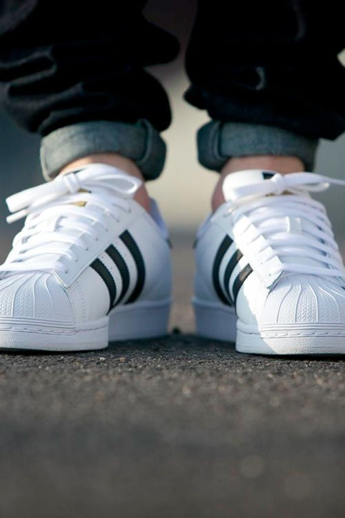 Adidas Superstar White And Black Stripes