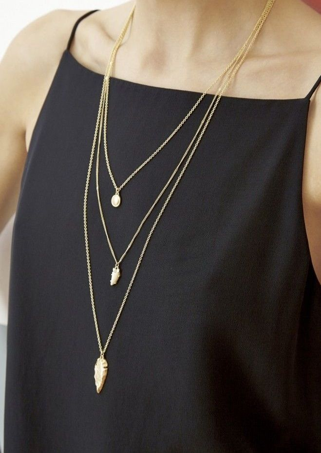 In addition to the Bianca Convertible Bow Dress: A long necklace would benefit the high neckline!