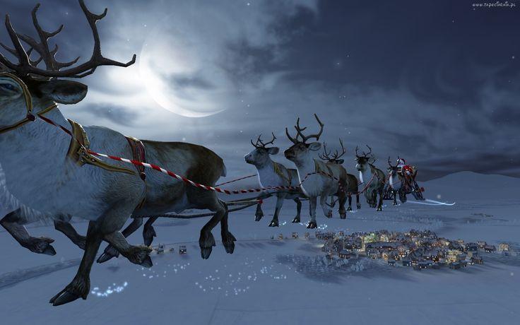 Renifery, Mikołaj, Księżyc