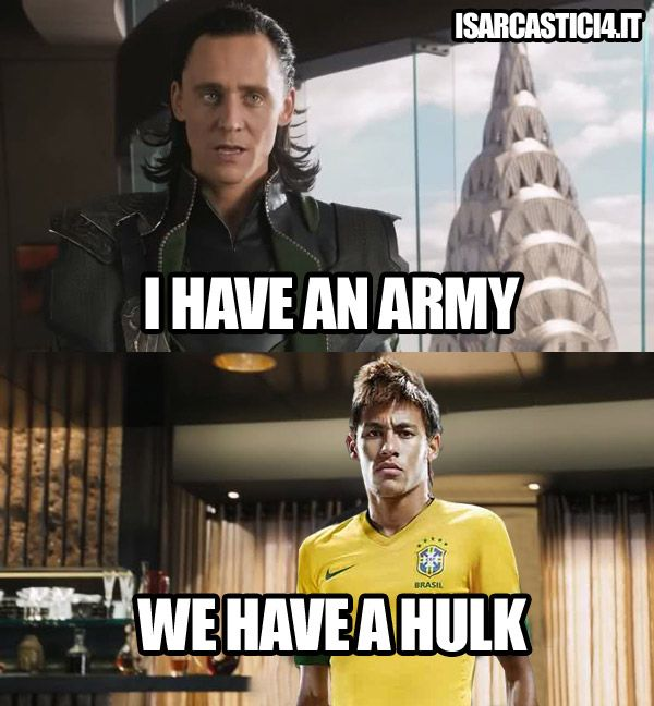 For those who don't know, there's a player named Hulk on the Brazilian national soccer team