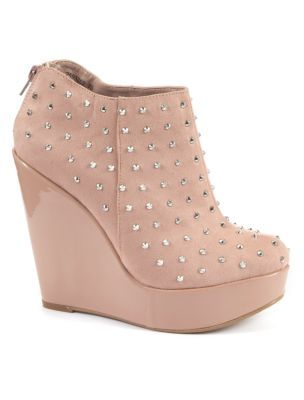 Pink Demi Wedge Shoe Boots.... I think I would most likely wear these! I love heels.... #over6fttall