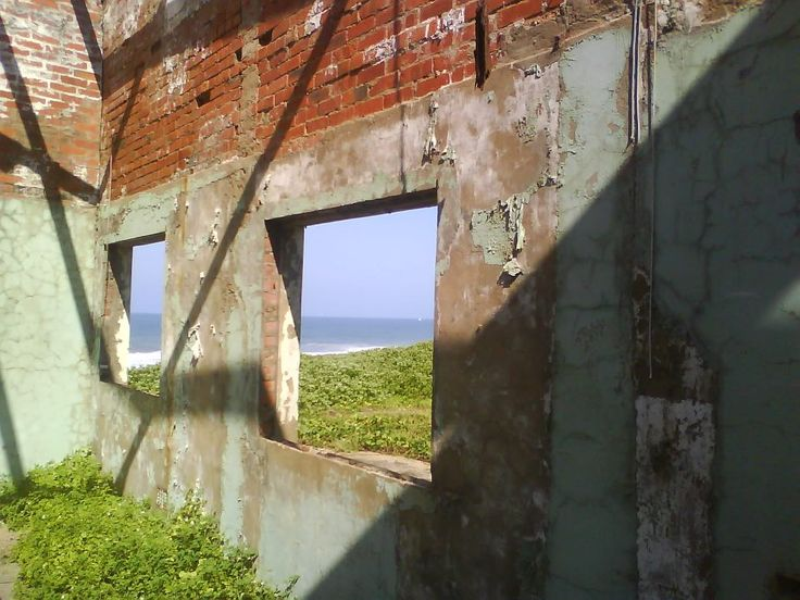 View from inside the old Whaling Station - now used as Army / Navy training facility