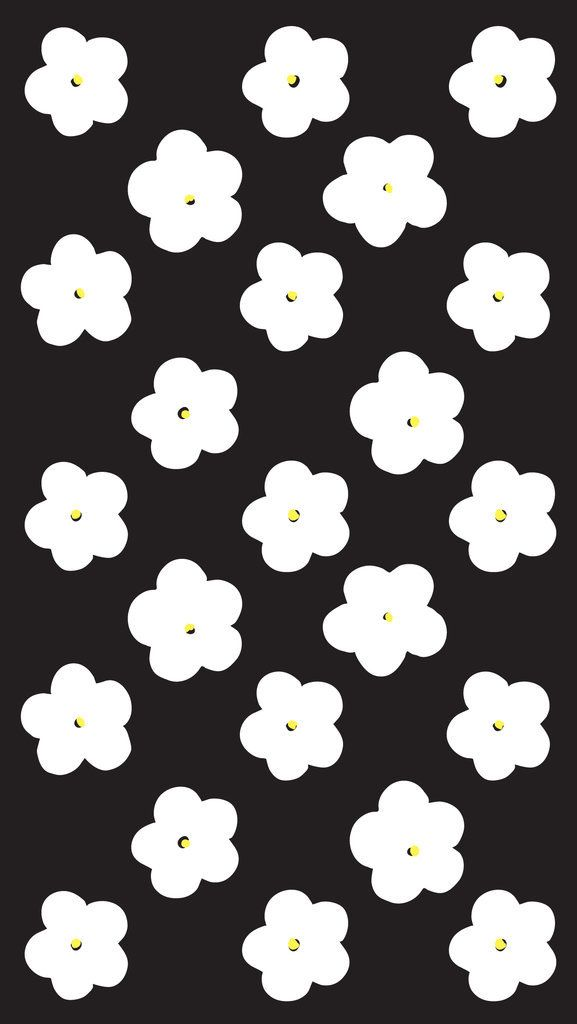 Black and White Flowers iPhone 6 wallpaper