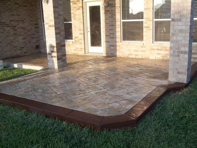 Concrete Patios Supreme Concrete U0026 Tile Houston, TX