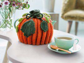 Kürbis-Teehaube and designer knits