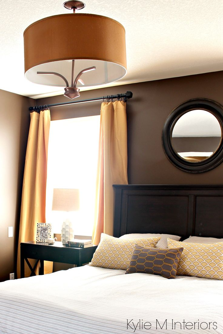 Bedroom Painted Benjamin Moore Brown Horse, With Gold, Yellow And Beige  Accents, Dark Part 92