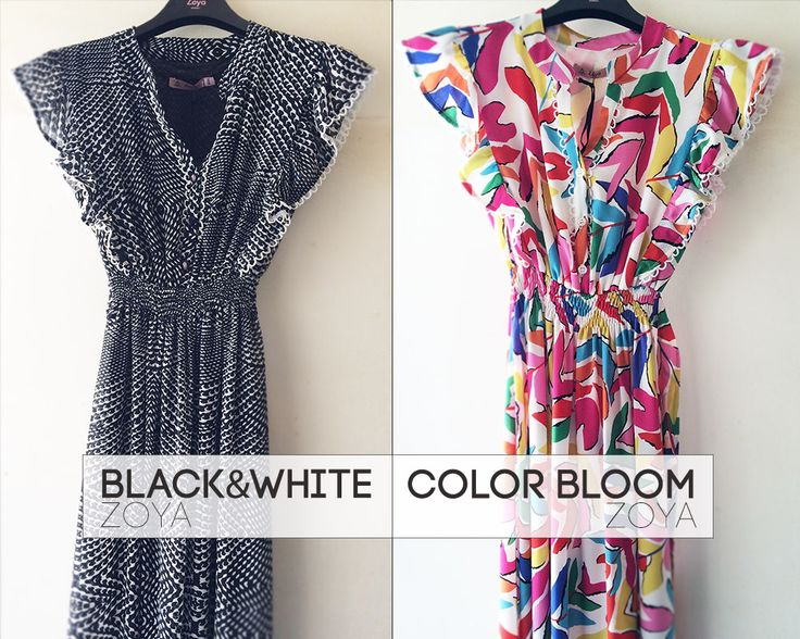 Black & White or Color Bloom? #zoya #fashion #style #dress #summer #SS15 #ss2015 #woman #girl #blackandwhite #color