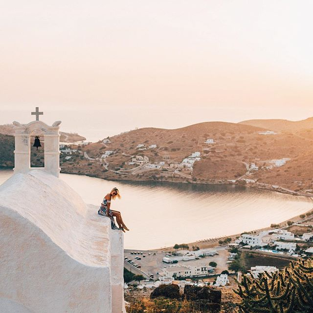 Last Sunset from Above Ios ☼ Greece you are stealing my heart.. Now time to explore the next island- Milos