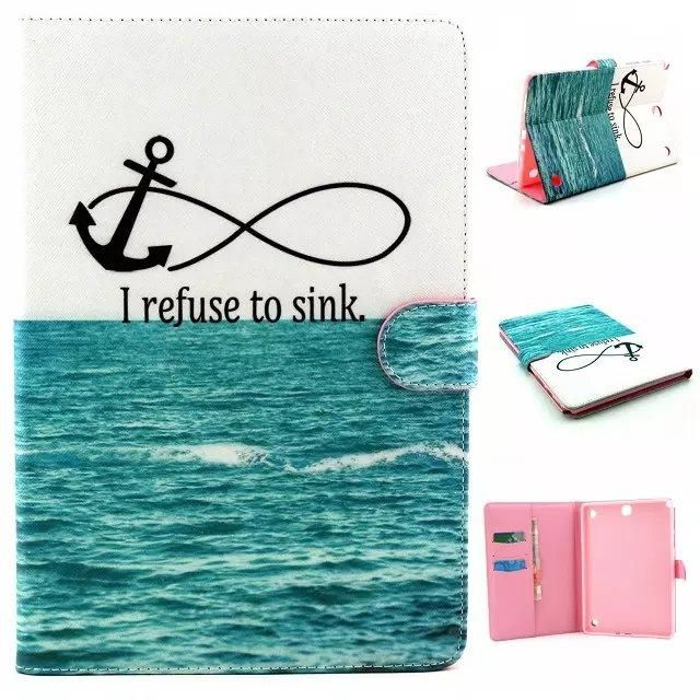 For Samsung Tab A9.7 Cover Cute Cartoon Pattern PU Leather Wallet Funda Tablet Case for Samsung Galaxy Tab A 9.7 SM-T550 SM-T555