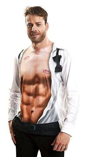 Si no llegas a tiempo con la operación bikini, siempre puedes hacerte con esta camiseta con abdominales 😜 http://www.milideaspararegalar.es/producto/camiseta-pecho-descubierto/