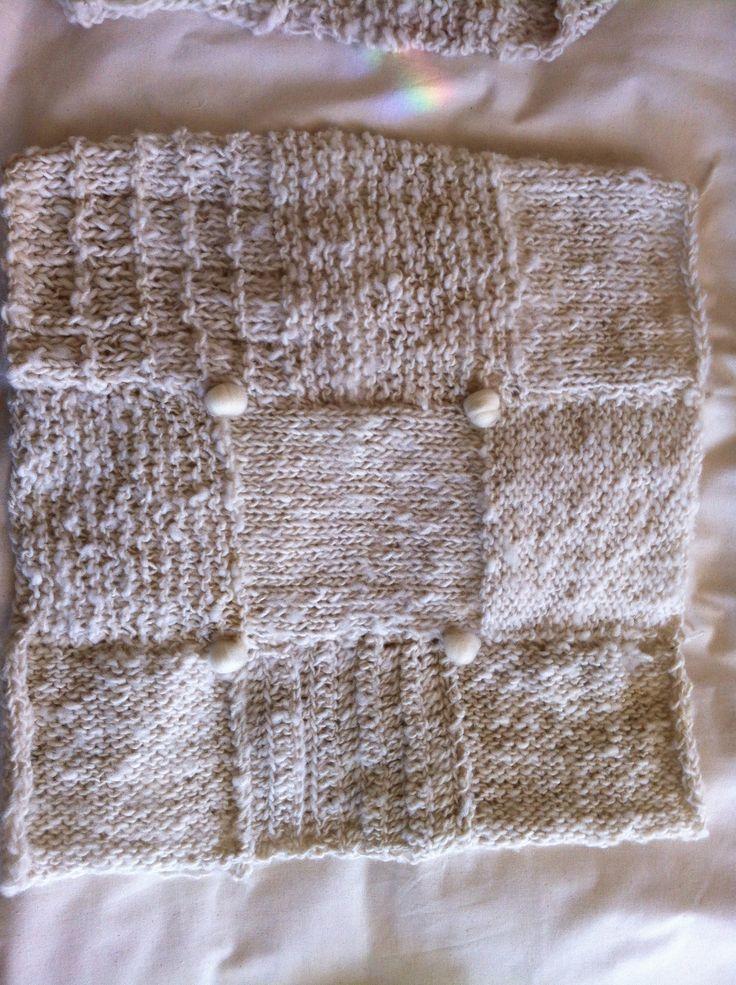 Detalle Cojines tejidos lana chilota