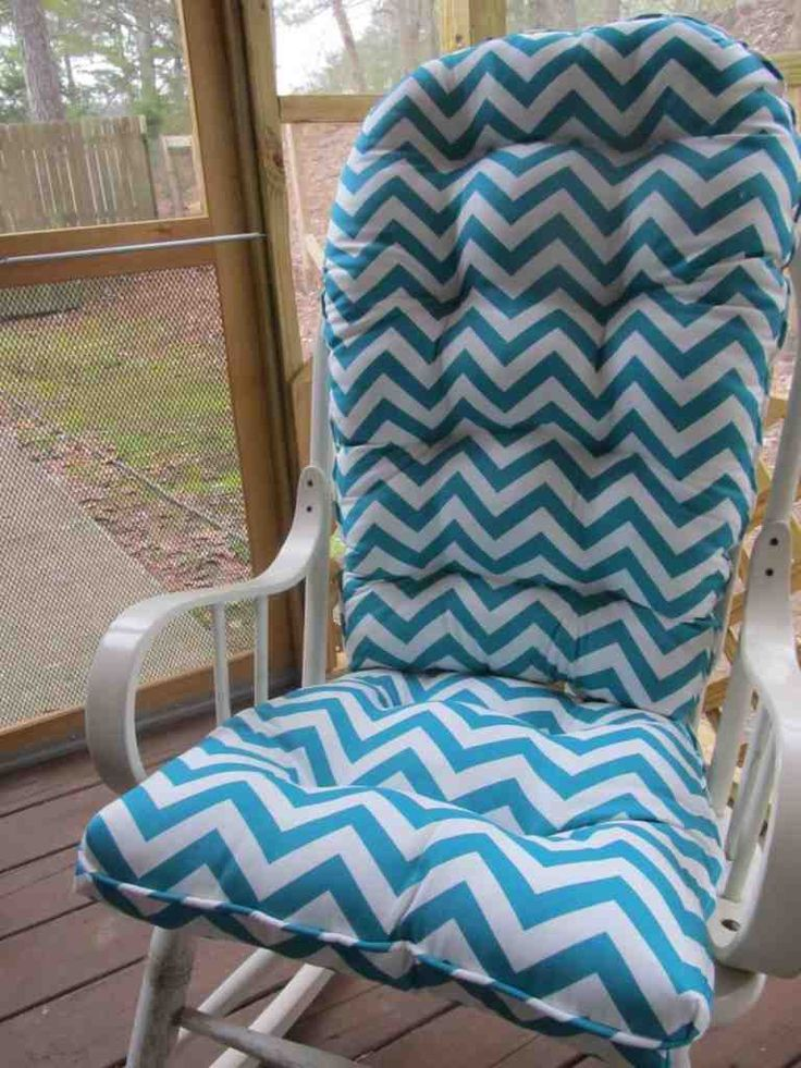Tufted Rounded Back Glider or Rocking Chair Cushion Set Turquoise and White  Chevron  Fabric is Included  Patio or Porch  Nursery48 best Best rocking chair cushions images on Pinterest   Rocking  . Rocking Chair Cushion Sets For Nursery. Home Design Ideas