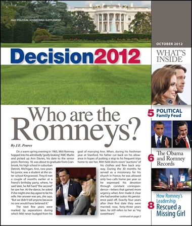 """Old Is New: Glossy """"MIttZine"""" Insert Included In Battleground State Sunday Newspapers"""