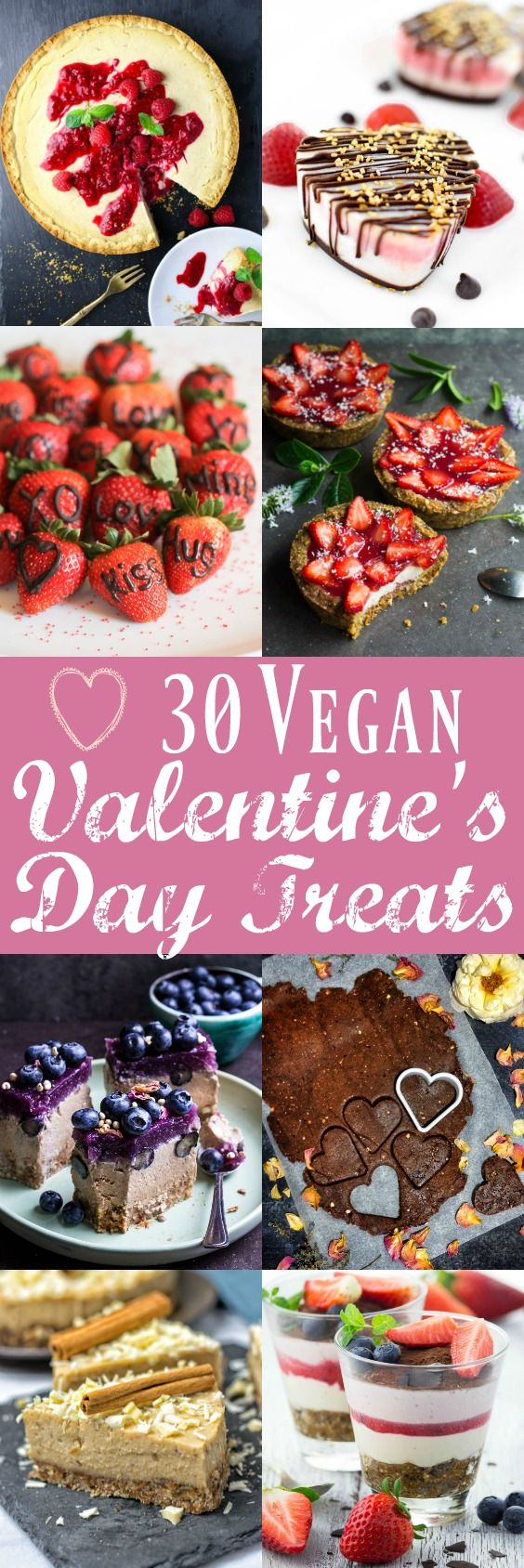 Vegan cheesecake, truffles, cookies, ice cream and so much more! Surprise your loved ones with one of these delicious vegan treats for Valentine's Day.