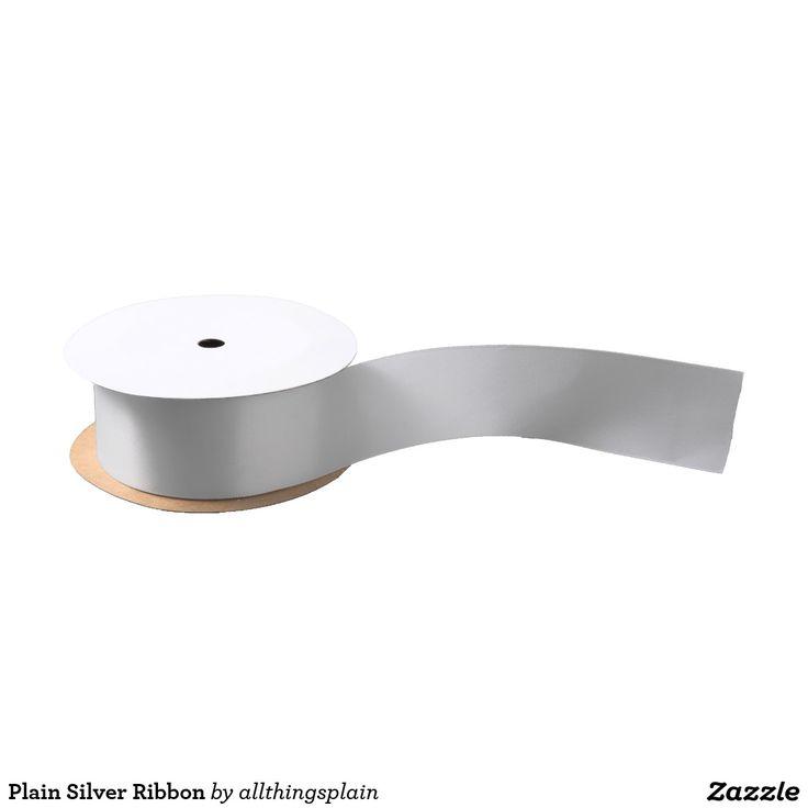 Plain Silver Ribbon Satin Ribbon