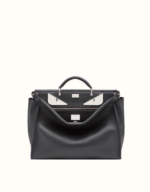 0d04fd4b10ed FENDI PEEKABOO - in black leather with metal Bag Bugs - view 1 small  thumbnail