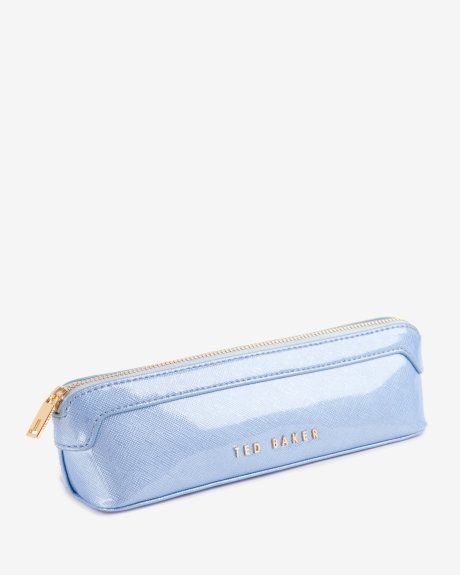 Crosshatch pencil case - Pale Blue | Gifts for Her | Ted Baker UK