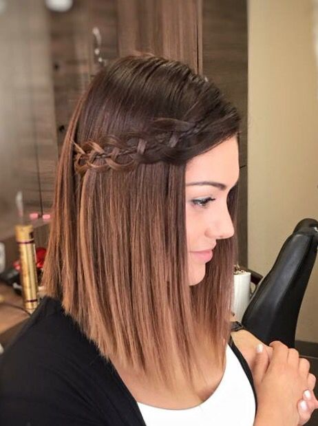 Edina Kulcsár's braided hair