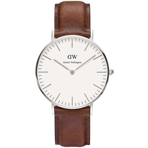 Daniel Wellington Classic St Andrews Lady stainless steel and brown... ❤ liked on Polyvore featuring jewelry, watches, daniel wellington, stainless steel jewelry, dial watches, stainless steel watches and daniel wellington watches
