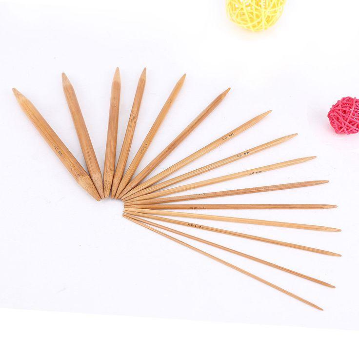 15Cm 15Sizes 75Pcs Double Pointed Carbonized Smooth Bamboo Knitting Needles