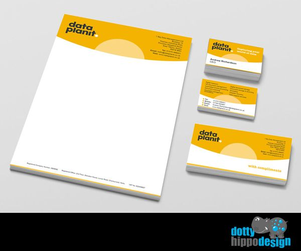 Business stationery pack for Data Planit