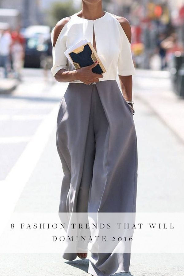 8 Fashion Trends That Will Dominate 2016. From massive sleeves to skinny scarves.
