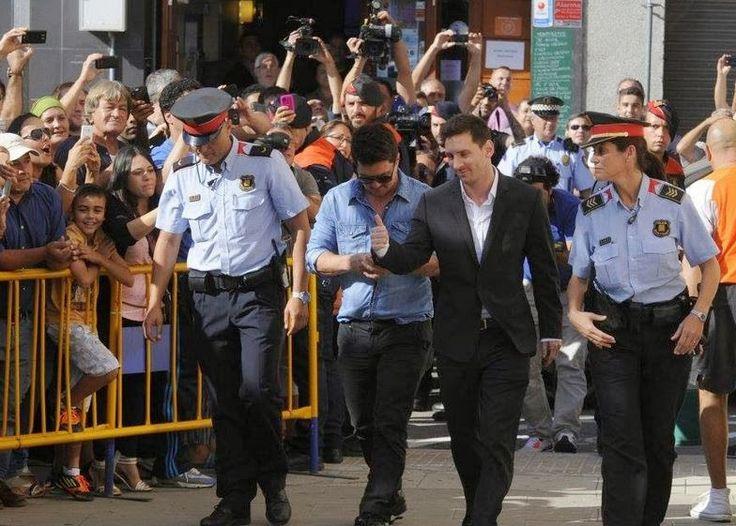 Αποθεώθηκε ο Λιονέλ Μέσι κατά την είσοδο του στο δικαστήριο όπου κατηγορείται για φοροδιαφυγή. [Video]