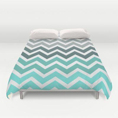 Tiffany+Fade+Chevron+Pattern+Duvet+Cover+by+RexLambo+-+$99.00