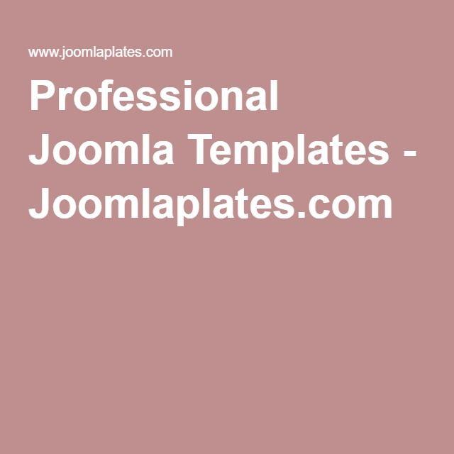 Professional Joomla Templates - Joomlaplates.com