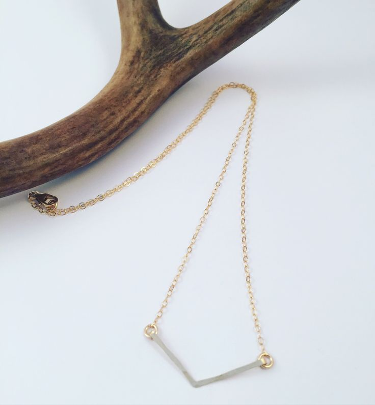 14k Gold Filled Chevron Necklace