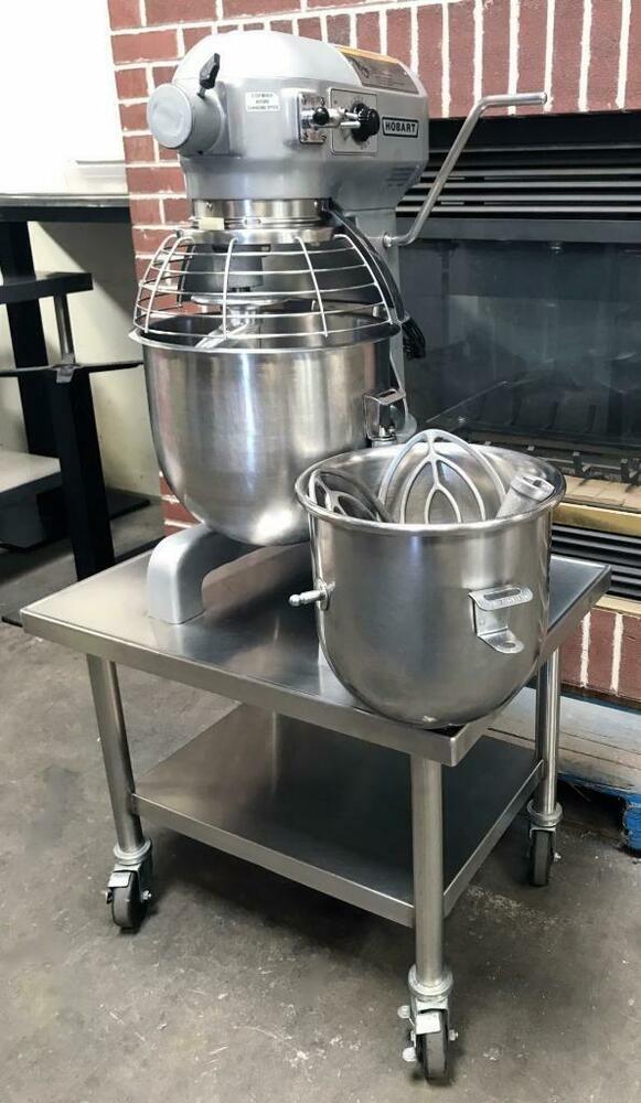 HOBART A-200T 20 QUART BAKERY DOUGH FOOD MIXER WITH 20 AND 12 QUART on hobart mixer a200, model h 600 hobart mixer, hobart 20 quart dough mixer, hobart 60 qt mixer, hobart mixer parts, antique hobart mixer, hobart commercial mixer, hobart d300 mixer,