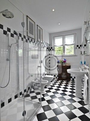 Latest fotomurale bagno moderno in bianco e nero with for Broadway arredamenti