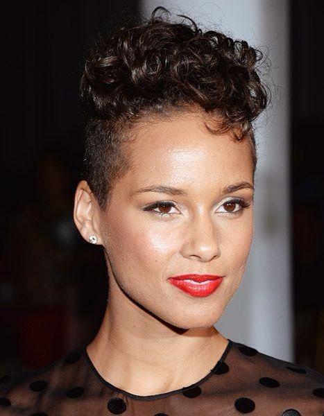 Alicia Keys - short curls
