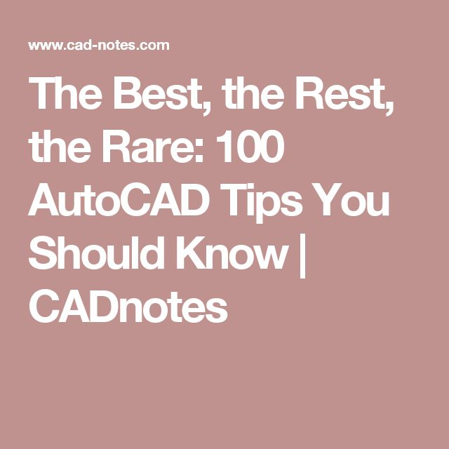 understand about autocad After spending countless hours in front of autocad working on a project, you're bound to have your own set of favorite commands to standardize a few.