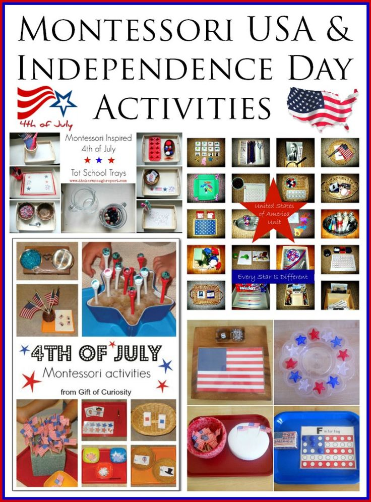 Montessori United States of America and Independence Day Activities  Racheous - Lovable Learning