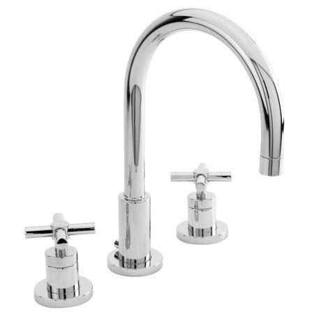 Newport Brass East Linear - Widespread Lavatory Faucet (cross & lever)