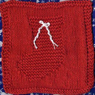 Dishcloth Chirstmas stocking free pattern