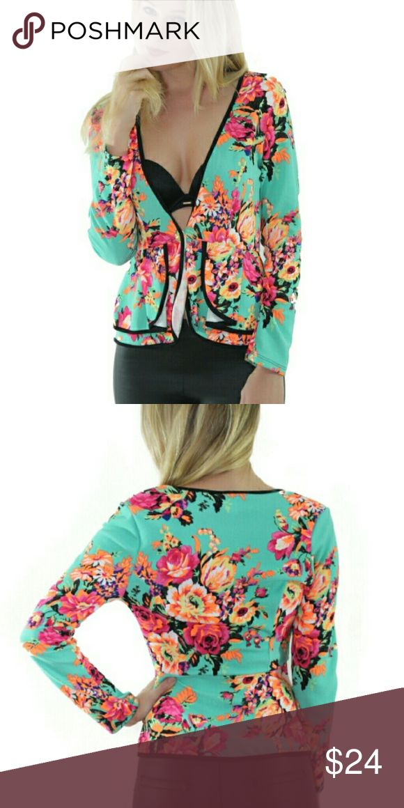 Floral Spring Blazer SALE♥♥ Front button See more at www.shopgetnoticed.com  🛇PRICE FIRM Jackets & Coats Blazers
