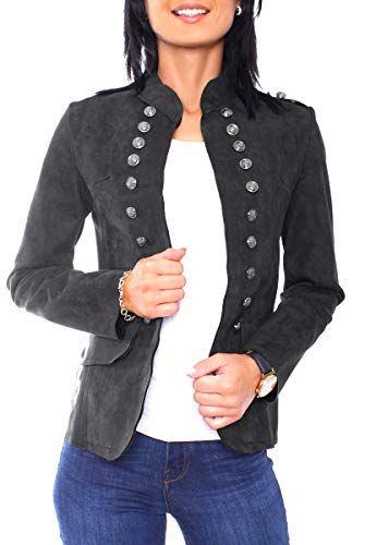 e646be8cbd6596 Damen Velours Jersey Blazer Jacke Militaryblazer Tailliert Uni Schwarz M  38. Military Blazerjacke im Vintage Stil. Figurbetonter Slim Fit Sc… |  PINSHOP ...