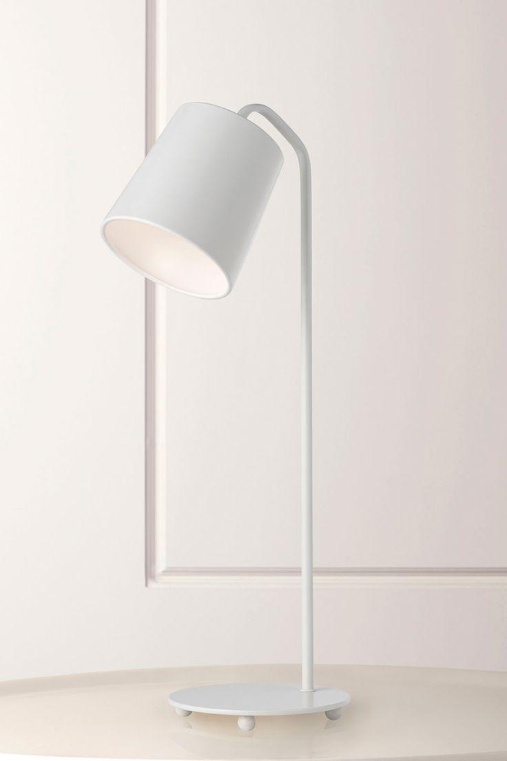 908W Evora Satin White Desk Lamp