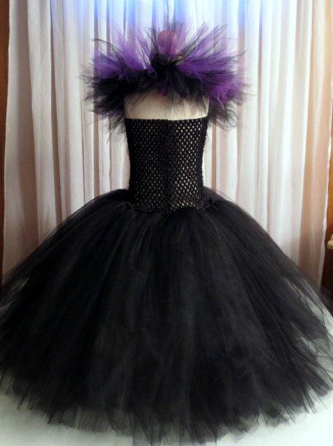 Robe Tutu maleficent assortis cornes bandeau par TiffanysCouture