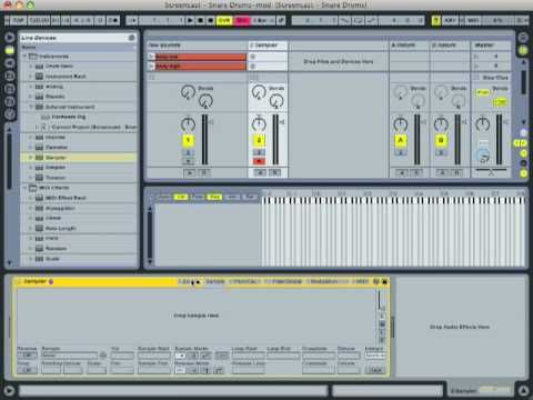 Ableton Live Tutorial - Create Snare Drum w/ Found Sounds (Part 1)