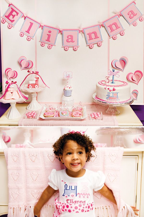 Train of Love 3rd Birthday Party | Cute & Girlie