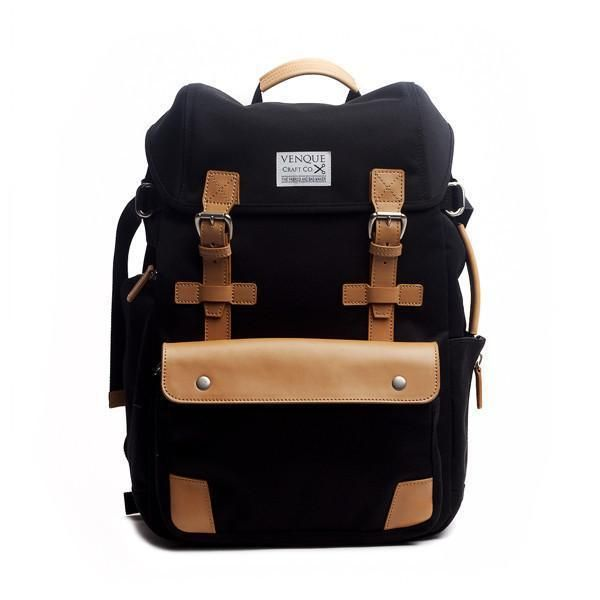 shop ethical sustainable & ethical clothing by Venque Alpine Rucksack Black   Venque   Ethical fashion   Sustainable materials   Men   bags   Hipster   Urban   Professional Ethi