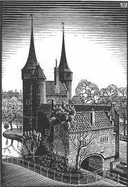 M.C. Escher - Delft - Oostpoort