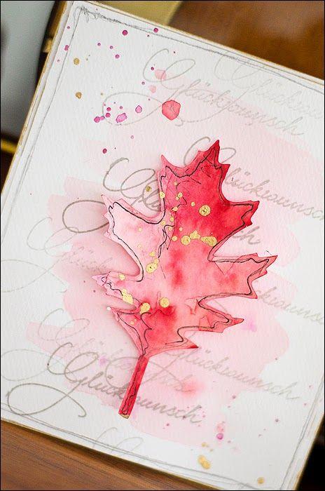 Bastelideen von Sizzix UK: Blätter im Frühling … Schnelle Grußkarten …