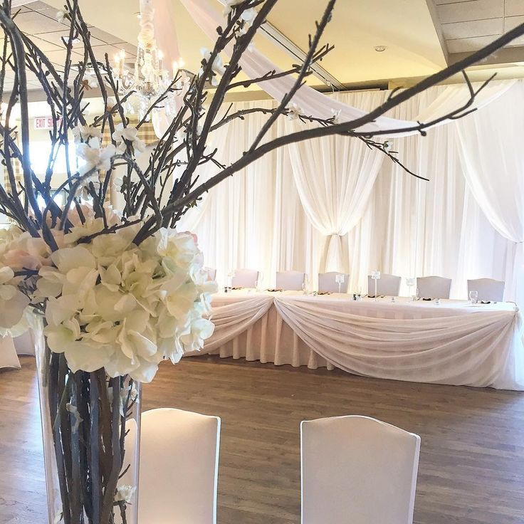 Lovely And Simple Head Table Decor