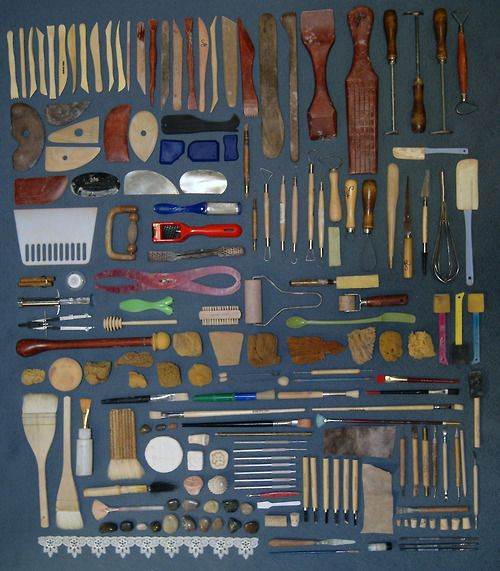 """collection of clay tools...this pin makes me feel happy and go """"gasp! oooooh!"""""""
